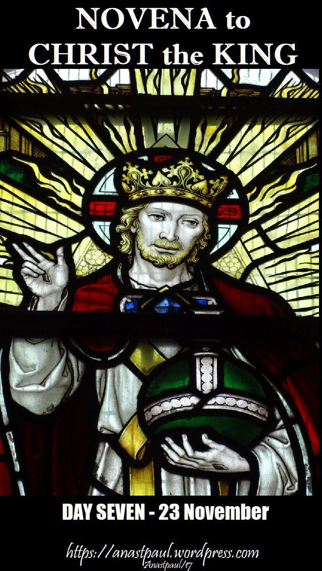 day seven - novena christ the king - 23 nov 2017