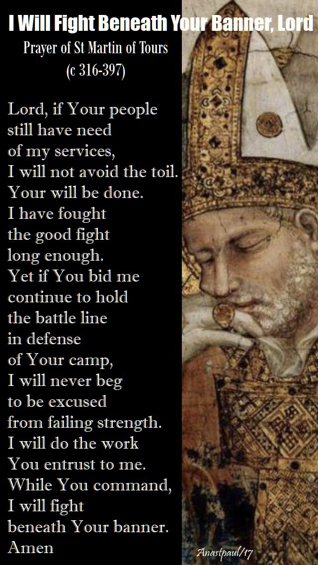 i will fight beneath your banner lord - st martin of tours - 11 nov 2017