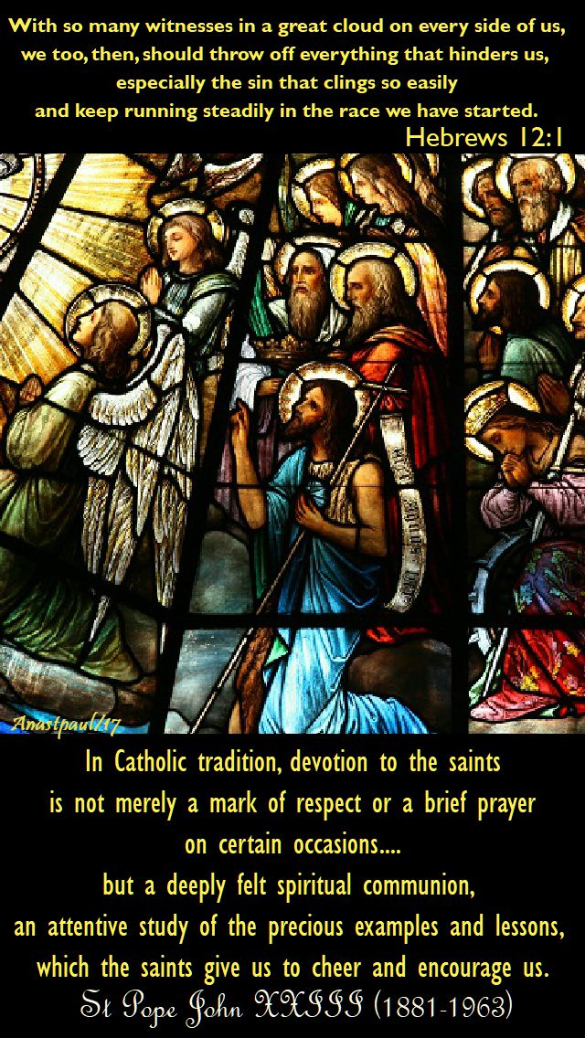 in catholic tradition - st pope john 23 - 6 nov 2017