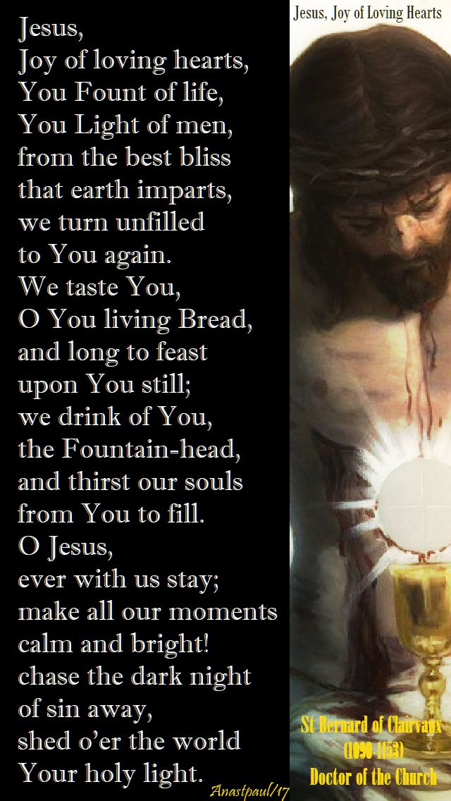 jesus, joy of loving hearts - 12 nov 2017
