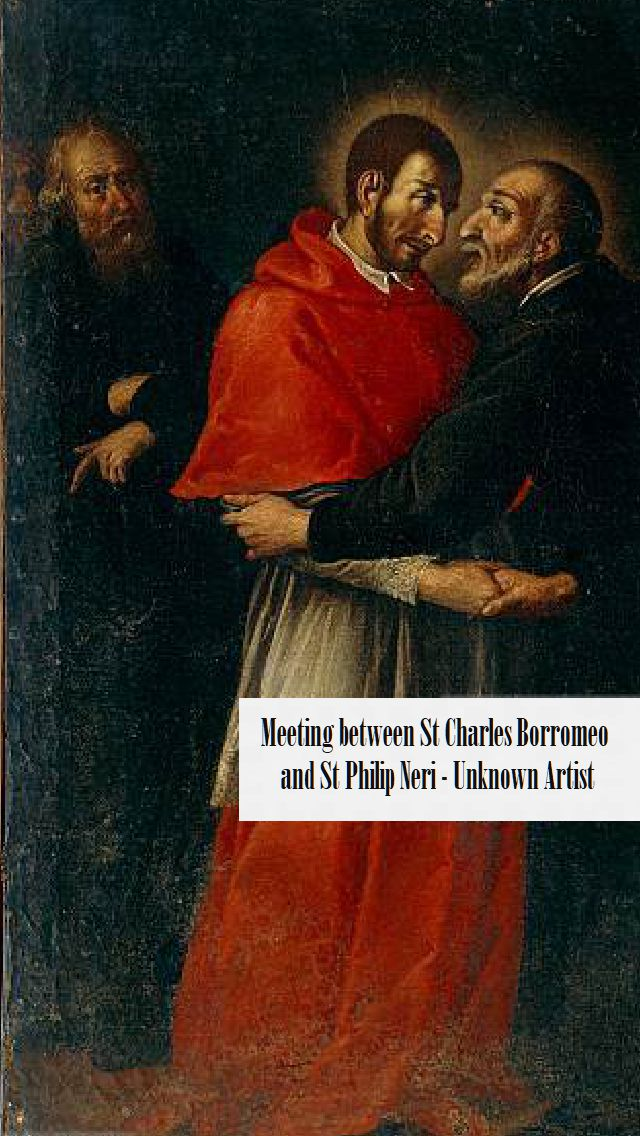 Meeting between Saint Charles Borromeo and Saint Philip Neri