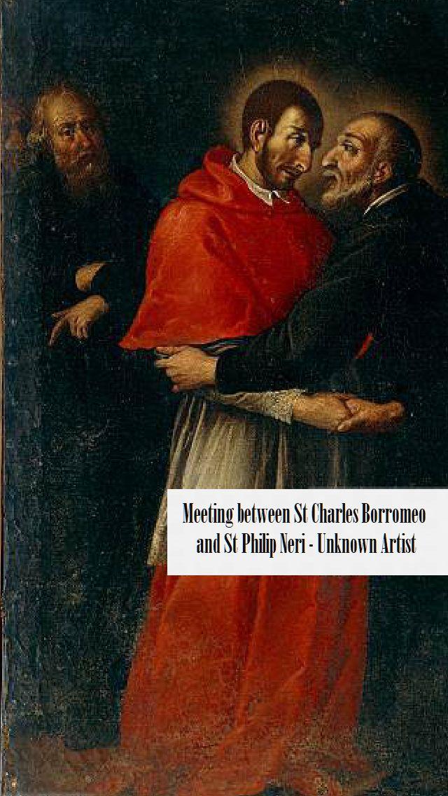 Meeting between Saint Charles Borromeo and Saint Philip Neri