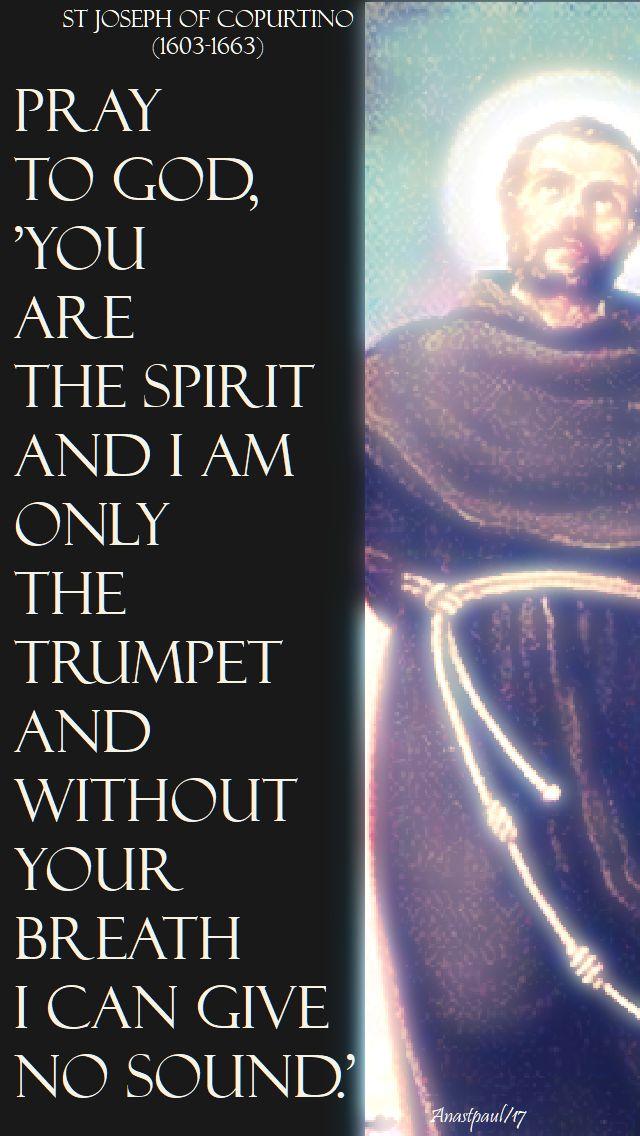 pray to god - st joseph of cupertino - 14 nov 2017