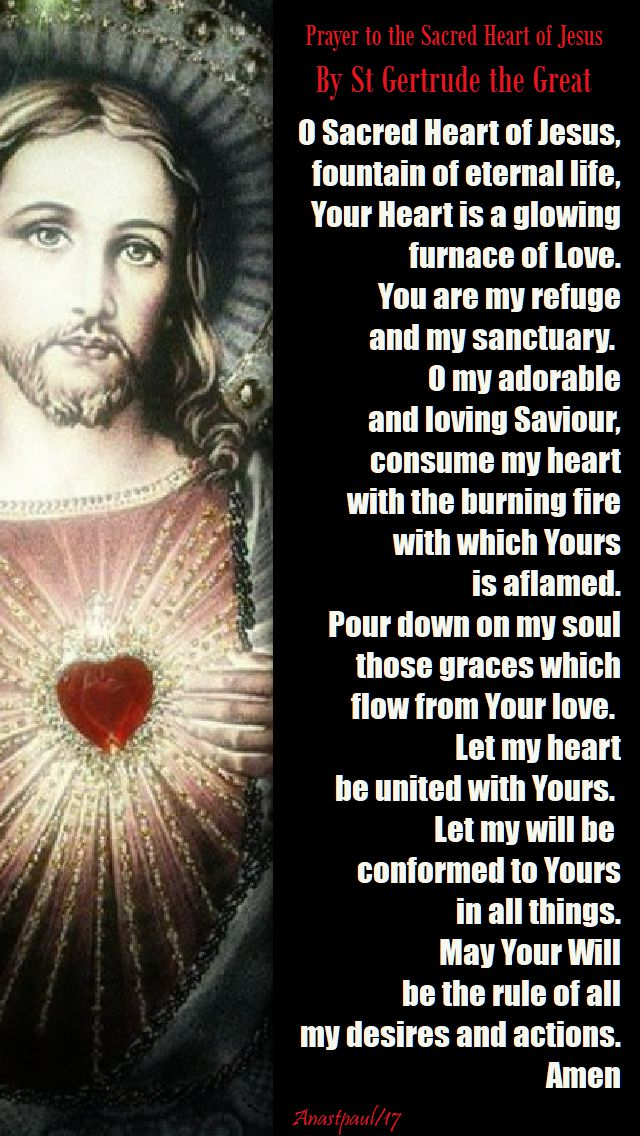 prayer to the sacred heart by st gertrude - 16 nov 2017