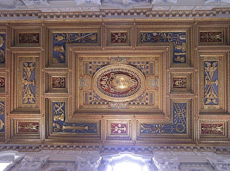 Rom,_Basilika_San_Giovanni_in_Laterano,_Decke_der_Basilika_2