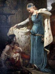 Saint Elizabeth of Hungary (Detail) (Sándor Liezen-Mayer - ) 1882