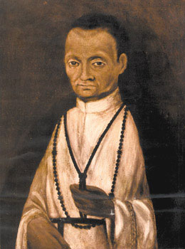 Portrait of St Martin de Porres, c. 17th century, Monastery of Rosa of Santa Maria in Lima. This portrait was painted during his lifetime or very soon after his death, hence it is probably the most true to his appearance.