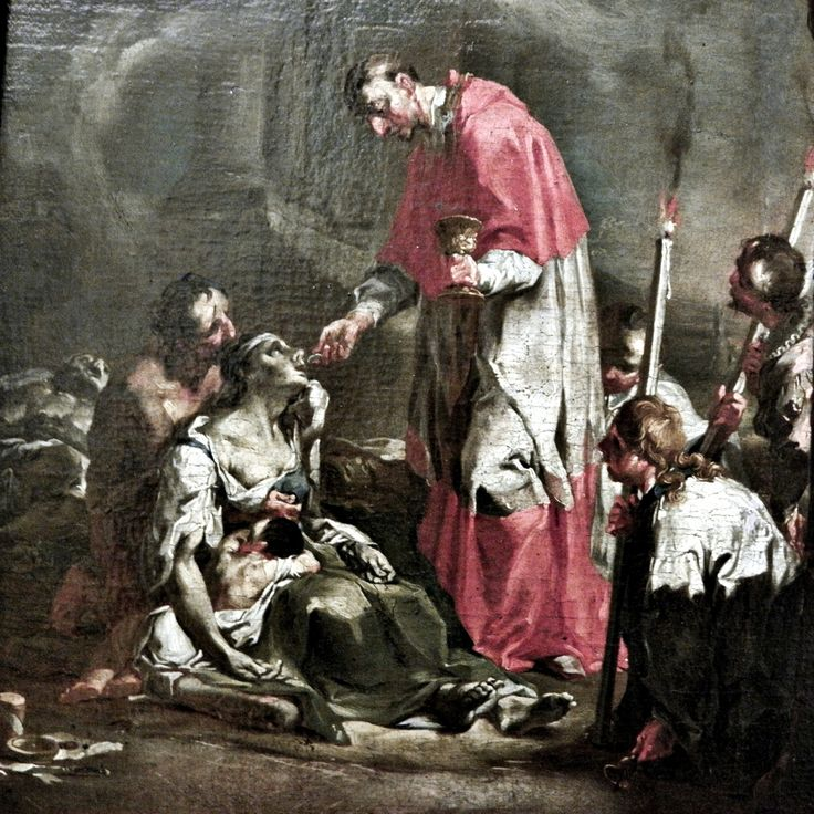 St Charles Borromeo giving Communion to plague victims.2by caspar franz sambach