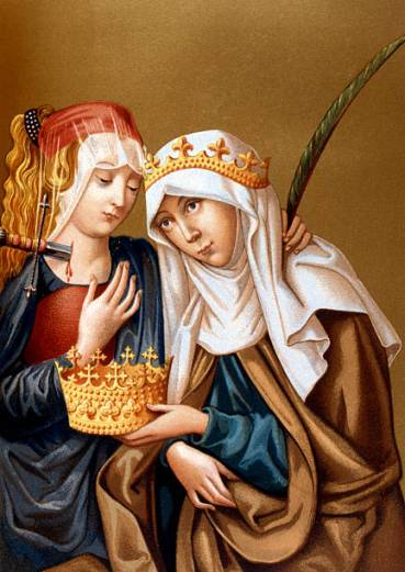 St Elizabeth of Hungary and St Lucy, 1878.