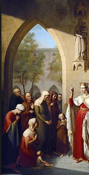 st elizabeth visiting the hospital she founded
