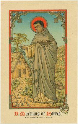 ST MARTIN DE PORRES.holy card
