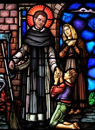 ST MARTIN DE PORRES.-stained glass