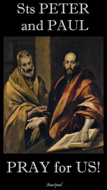 sts peter and paul - pray for us