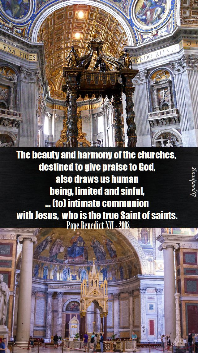 the beauty and harmony - pope benedict - 18 nov 2017.-no2