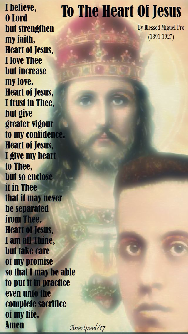 to the heart of jesus - bl migule pro - 23 nov 2017