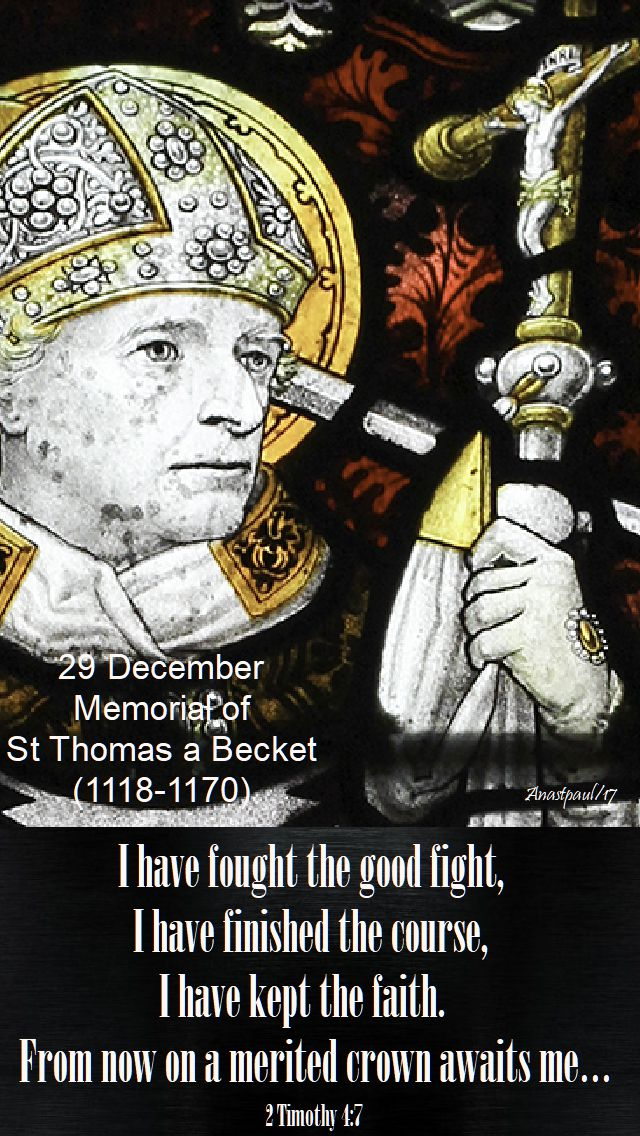 2 timothy 4-7 - 29 dec 2017 - thomas a becket