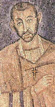 Early mosaic of Ambrose that might be an actual portrait.