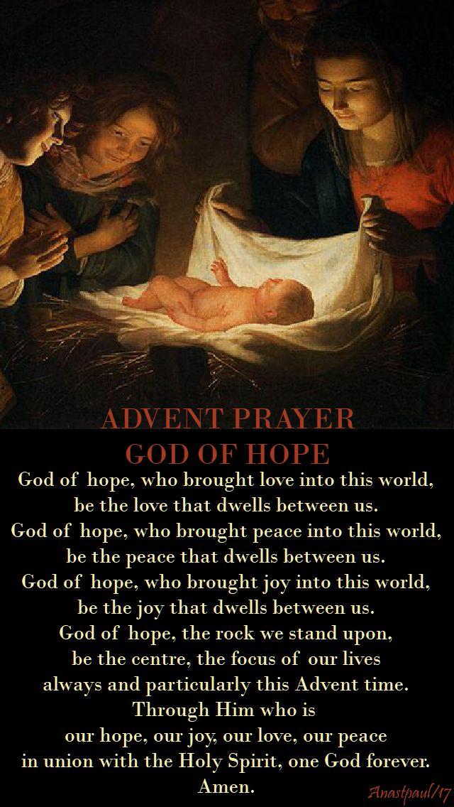 advent prayer - 6 dec 2017