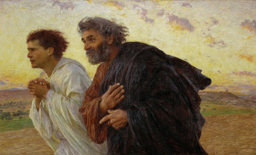 beloved runs to the tomb - burnand