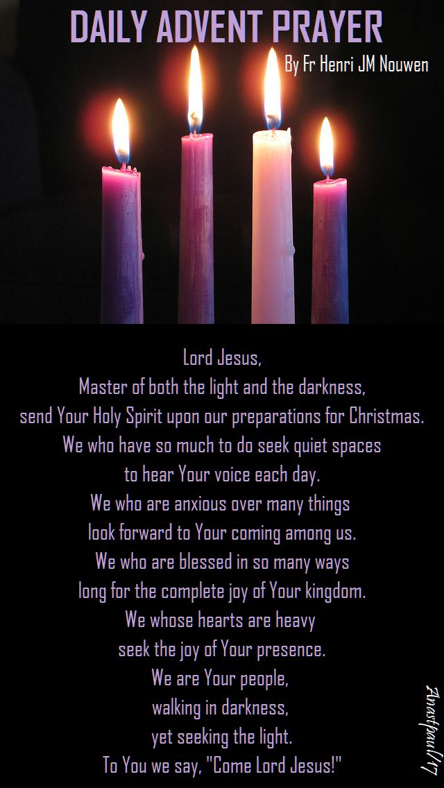 daily advent prayer by henri nouwen