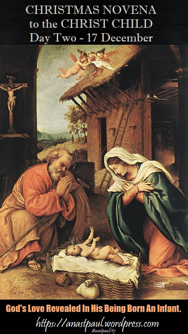 DAY TWO NOVENA TO THE CHRIST CHILD - 17 DEC 2017