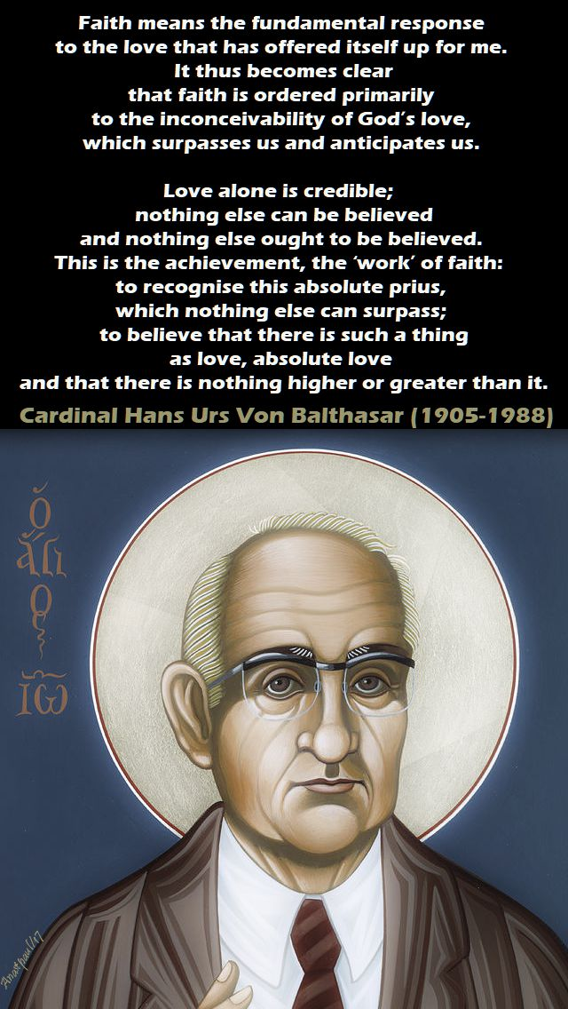 faith means - card hans urs von balthasar - 18 dec 2017