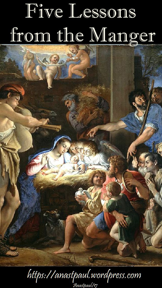 five lessons from the manger - 9 dec 2017