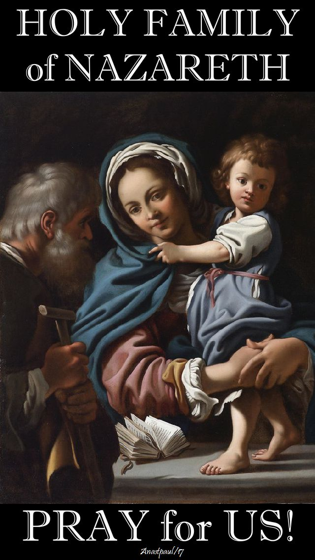 holy family pray for us no 2 - 31 dec 2017