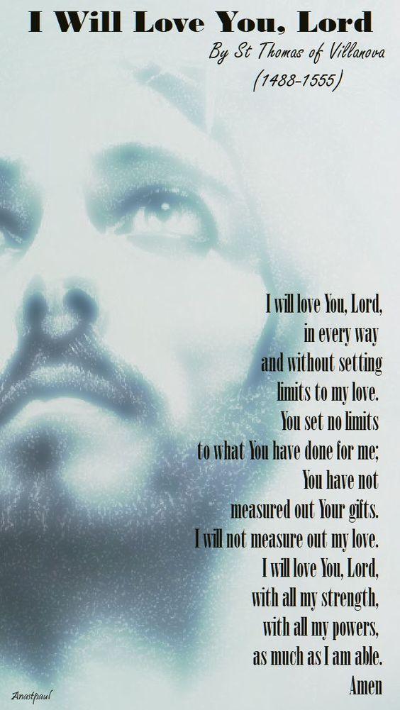 I will love you Lord - st thomas of Villanova - 22 sept 2017