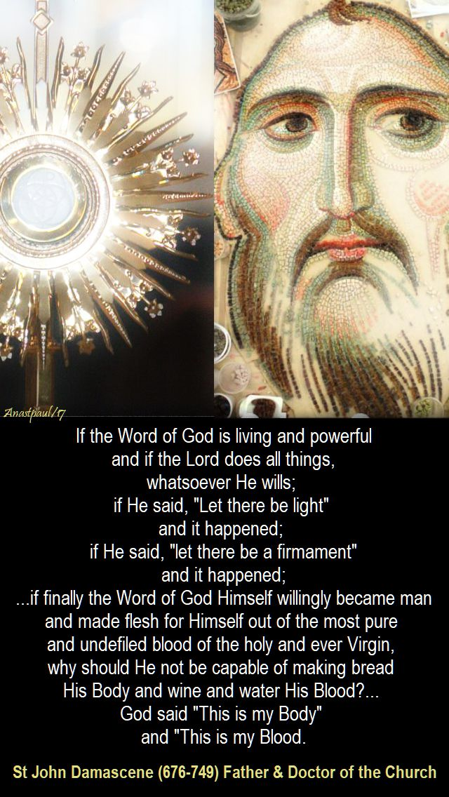 if the word of god - st john damascene - 4 dec 2017