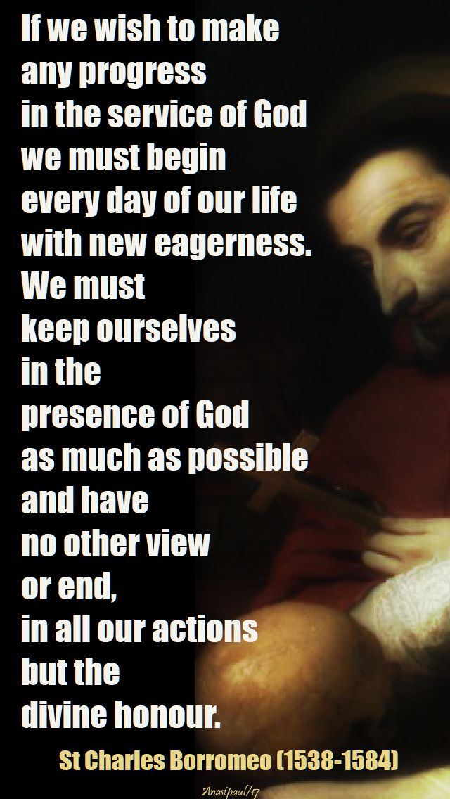 if we wish to make - st charles borromeo - 16 dec 2017