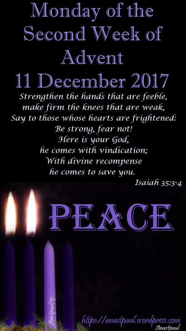 monday of the second week of advent - 11 dec 2017