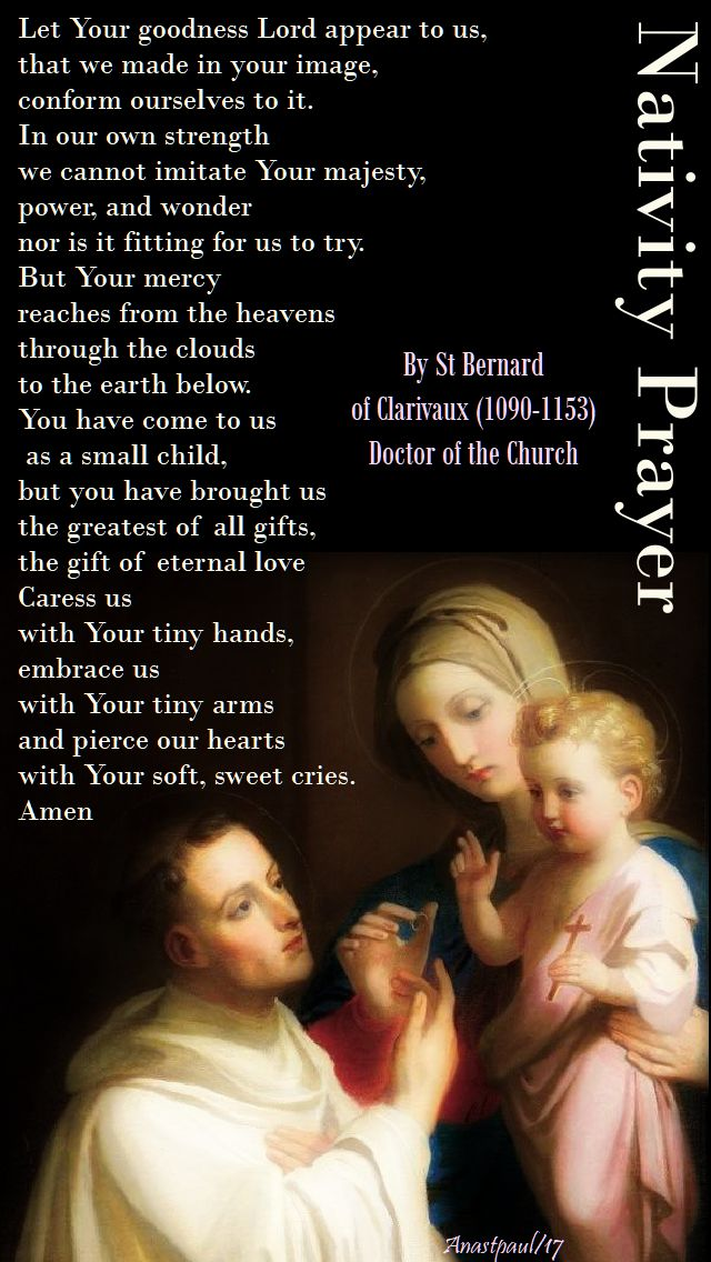 nativity prayer of st bernard - 24 dec 2017