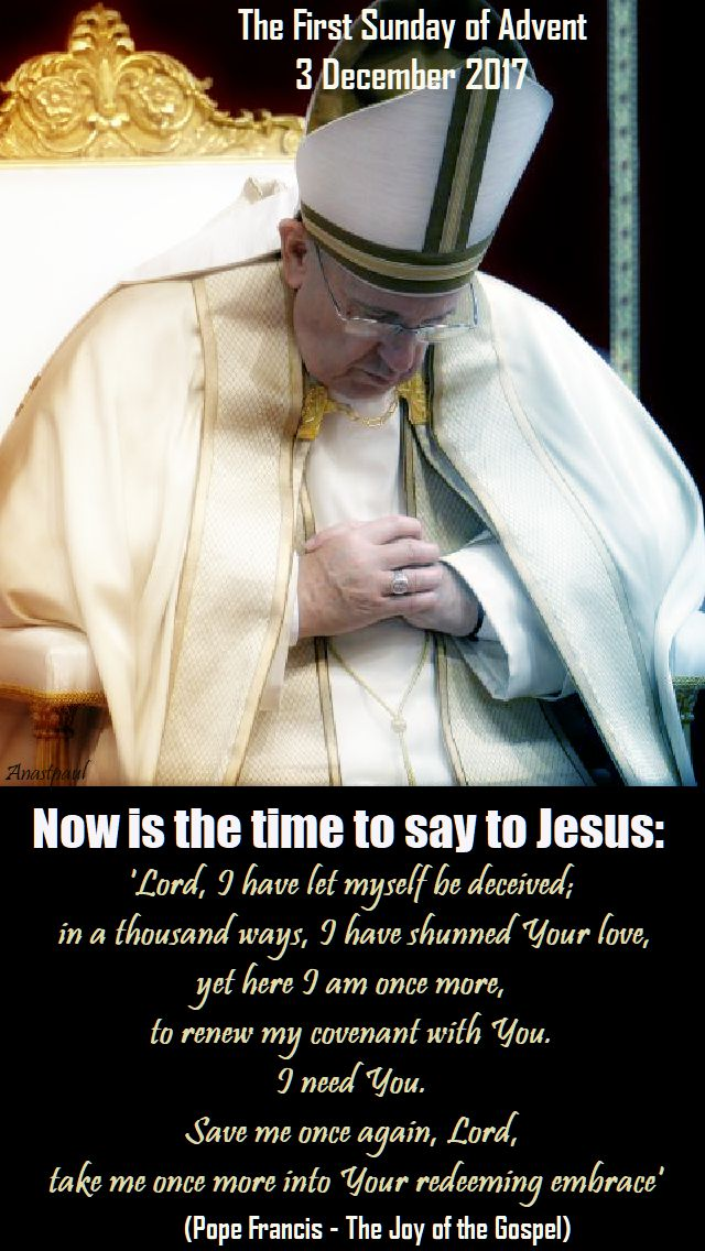now is the time - pope francis - the joy of the gospel - 3 dec 2017