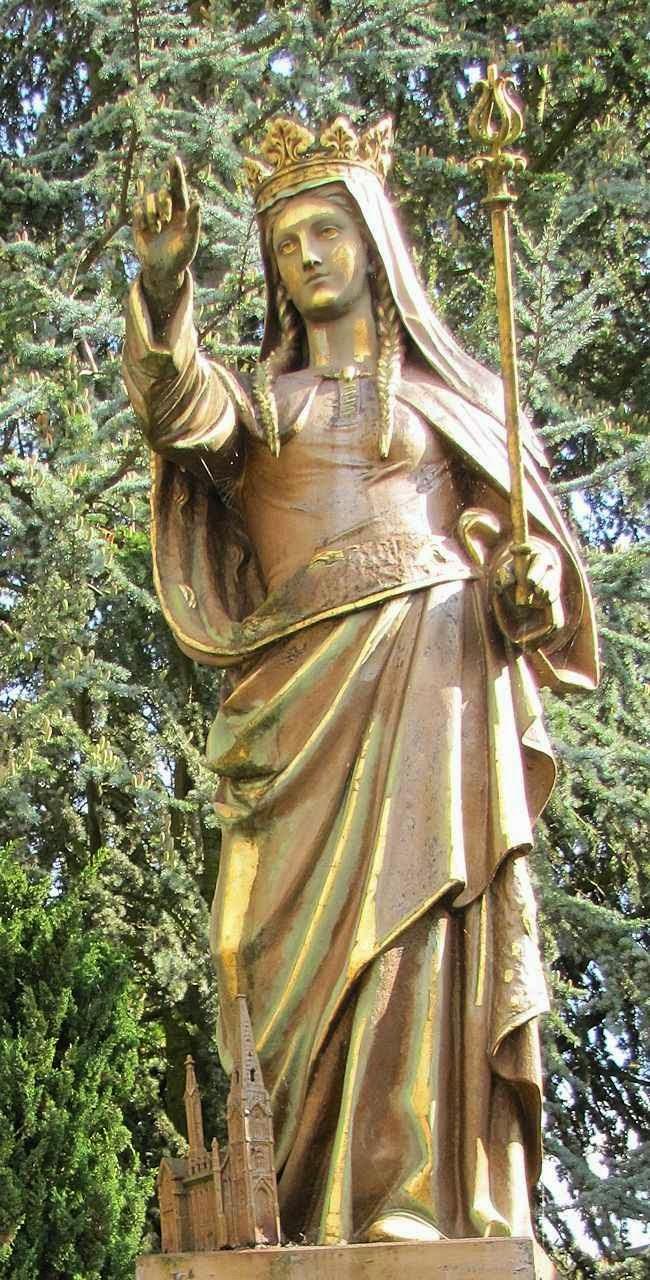 Santa Adelaide, estátua em Seltz, Alsacia