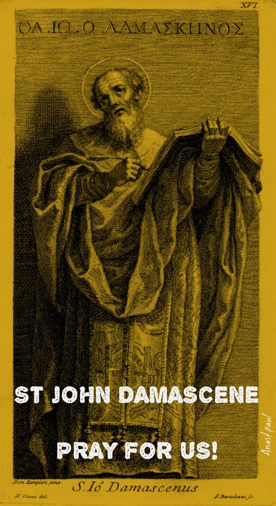 st john damascene pray for us 2016