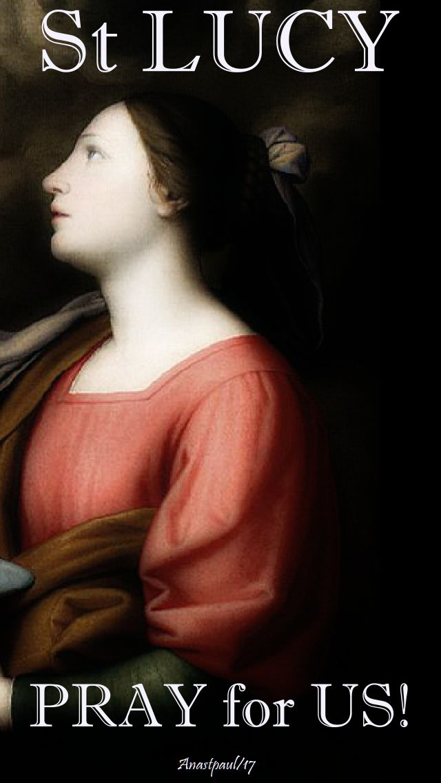 st lucy - pray for us - 13 Dec 2017