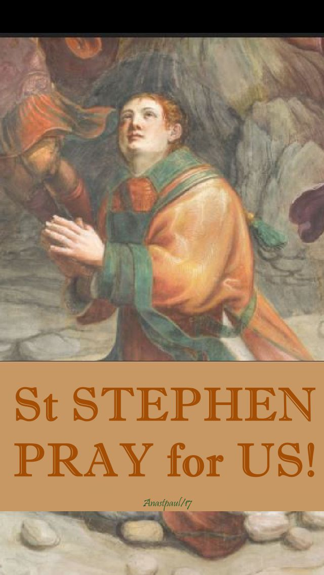 st stephen pray for us