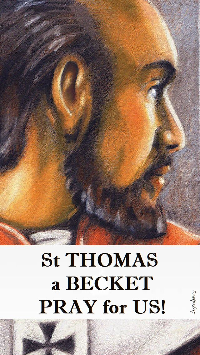 st thomas a becket pray for us no 2 - 29 dec 2017