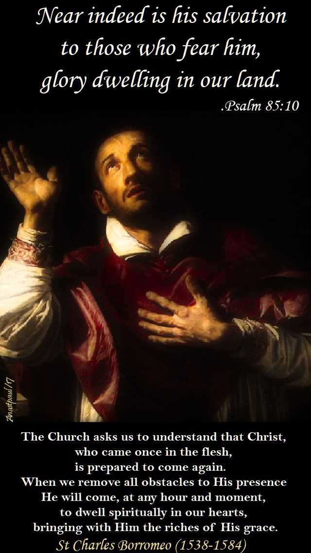 the church asks us to understand - st charles borromeo - 16 dec 2017
