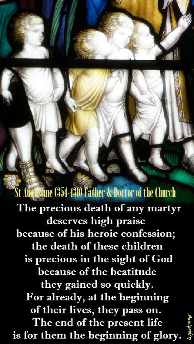 the precious death - st augustine - 28 dec 2017