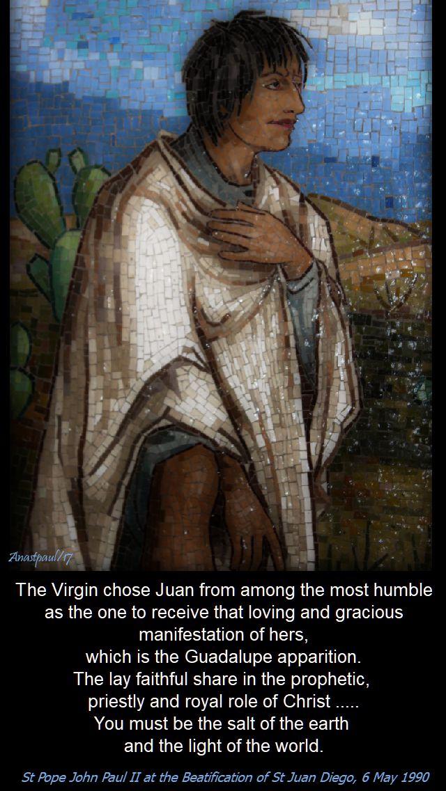 the virgin chose juan - st john paul - 9 dec 2017