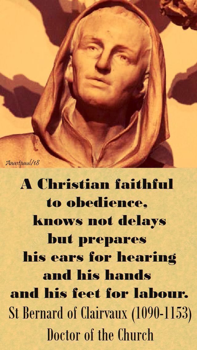 a christian faithful - st bernard - 26 jan 2018