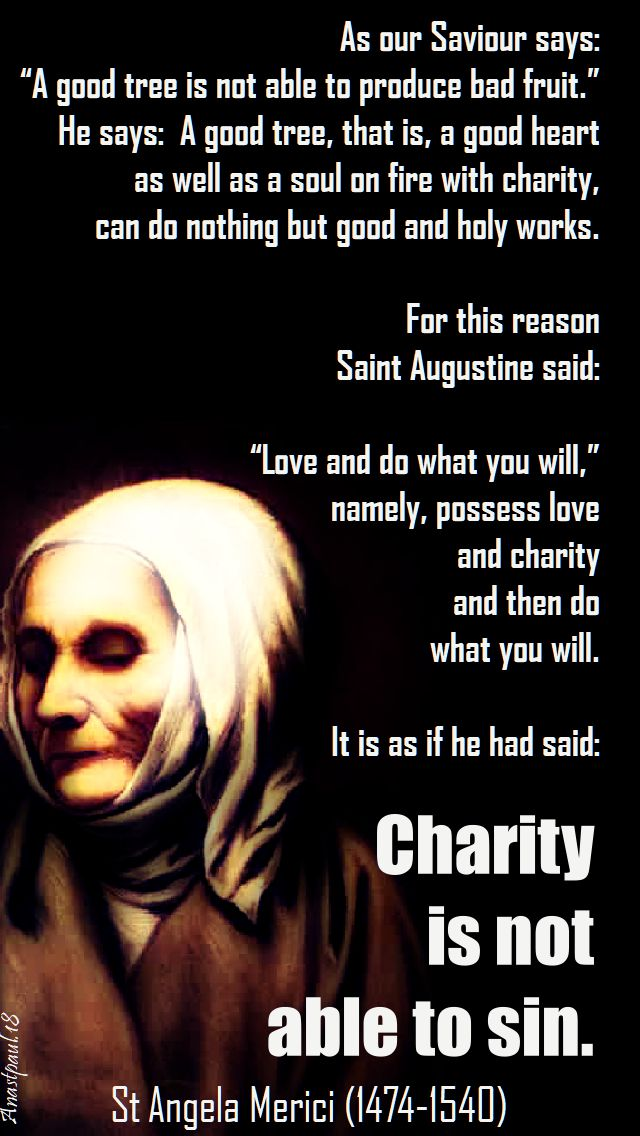 as our saviour says - st angela merici - 27 jan 2018