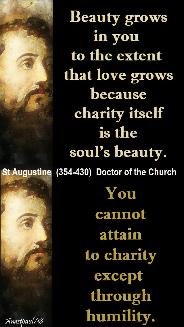 beauty grows in you - st augustine - 16 jan 2018
