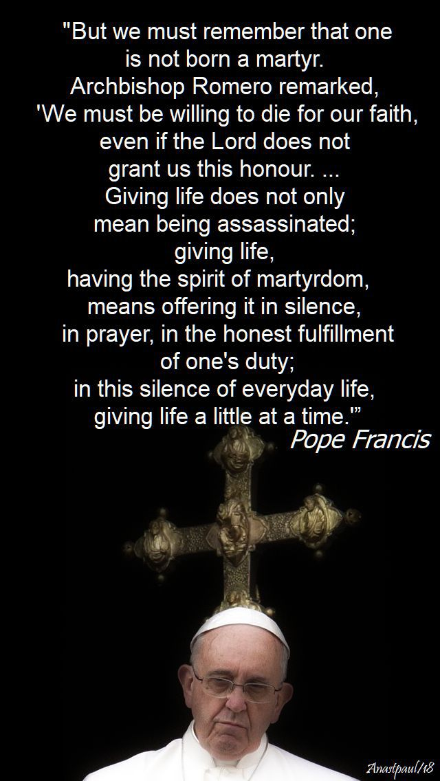 but we must remember that one - pope francis - 20 jan 2018