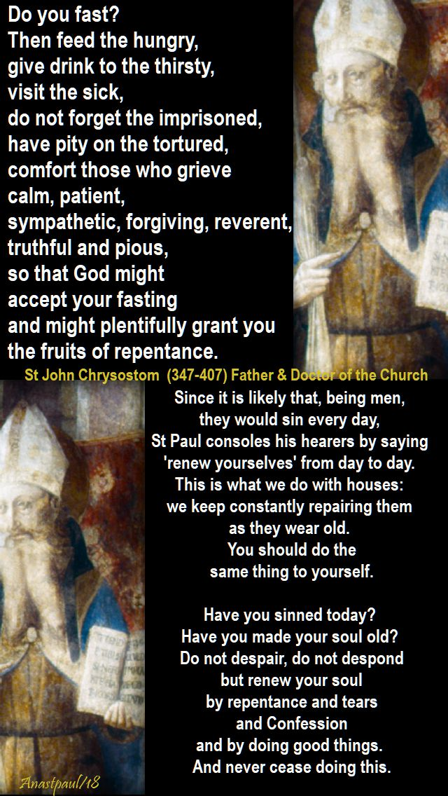 do you fast - st john chrysostom -29 jan 2018