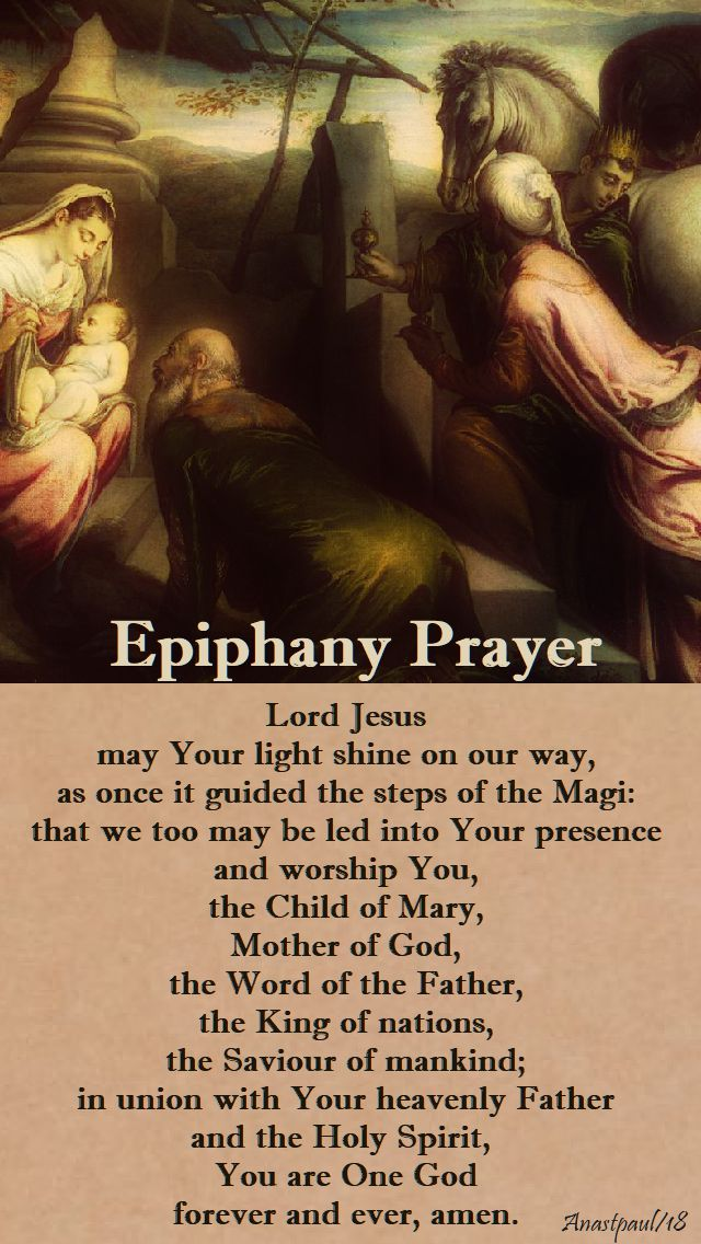 epiphany prayer - 7 jan 2018