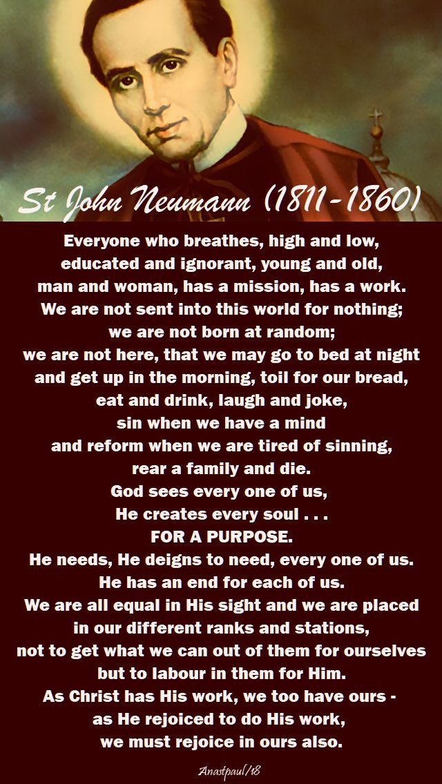 everyone who breathes - st john neumann - 5 jan 2018