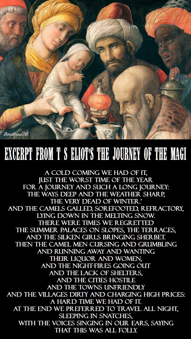 excerpt from t s eliot's journey of the magi